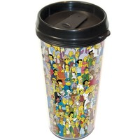 ICUP Simpsons Springfield Travel Mug, Clear