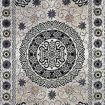 Handmade 100% Cotton Celtic Mandala Sunflower Tapestry Spread Neutral 70x104