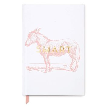 Vintage Sass Smart Donkey Soft Touch Hardcover Bound Book