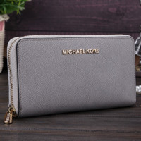 MK Women Leather Zipper Wallet Purse G-MYJSY-BB