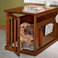 Magazine Rack Crate, Wood Dog Crate, Table Dog Crate | Solutions
