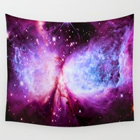 A Star is Born Fuchsia Purple Periwinkle Wall Tapestry by 2sweet4words Designs