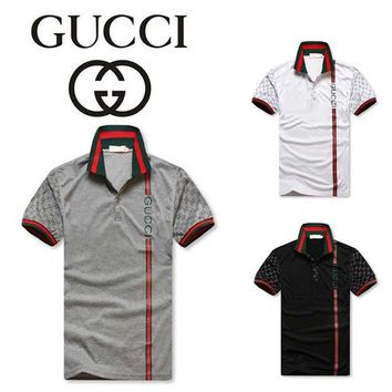 Gucci MEN Lapel Fashion Polo Shirt Top Tee