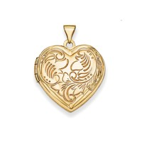14K Gold Heart Locket: Personalized Boutique, Inc.