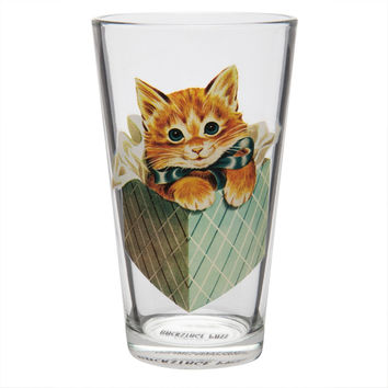 Kitten in a Box Pint Glass