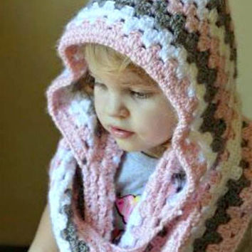 Baby Girls/Boys Hooded Cowl Chunky Hoodie Crochet Cowl with Hoodie New Born to Adult Sizes Made to Order