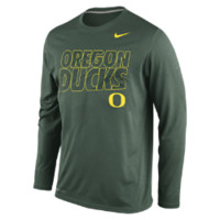 Nike College DNA Legend Long-Sleeve Crew (Oregon) Men's Training Shirt Size Large (Green)