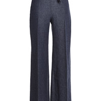 High Waisted Large Pant With Leather Belt