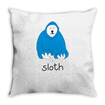 new! mens 'sloth' Throw Pillow