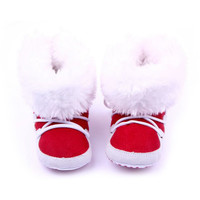 Winter Warm Snow Boots Fleece Soft Soled Crib Baby Shoes Infant Sneakers Footwear Crib For First Walker