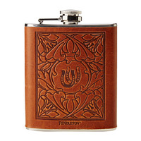 Pendleton Debossed Leather Wrapped Flask