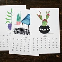 2018 Calendar - Plants Are Friends Wall Calendar - Messy Bed Studio