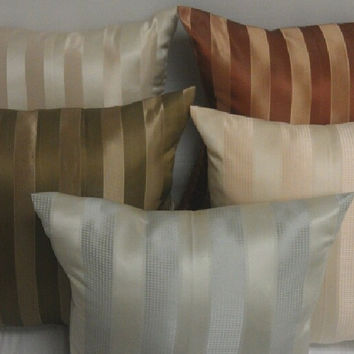 """Set of 2- 5 Colors - Sateen Two-Tone -26x26"""" Euro Pillows-Made in USA Color: Rust-Burgundy"""