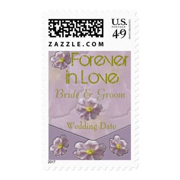 Amethyst Smoke Flora Wedding Postage