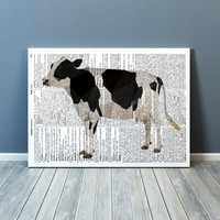 Farm animal print Cow poster Colorful decor Modern art TOA69-1