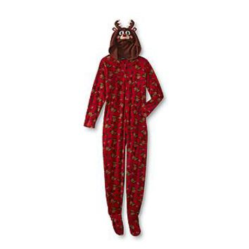 Joe Boxer Junior's Footed Pajamas - Reindeer