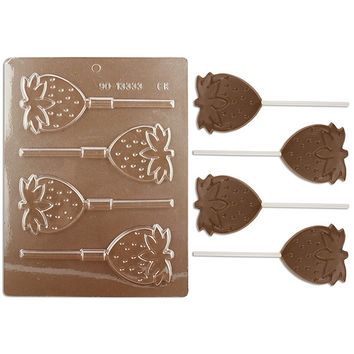 Strawberry Lollipop Chocolate Mold