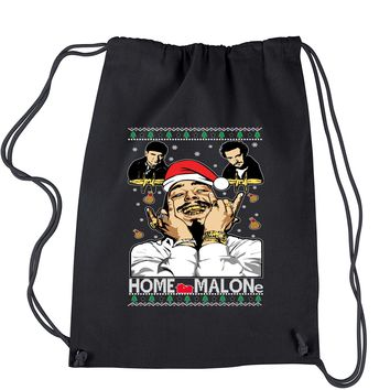 Home Malone Ugly Christmas Drawstring Backpack