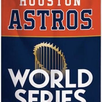 Houston Astros: 2017 American League and World Series Championship Flag/Banner; 3'x5'