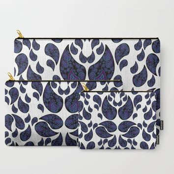 Paisley purple and teal Carry-All Pouch by VanessaGF | Society6