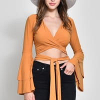 That's A Wrap Top - Marigold