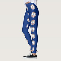 Leggings with flag of Virginia State, USA