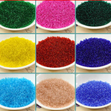 Free Shipping 1000PCS 2mm Czech Seed Spacer Beads transparent beads murano glass beads for jewelry making DIY Pick 18 Colors