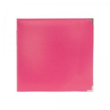 """We R Memory Keepers Strawberry D-Ring 12""""x12"""" Faux Leather Album & Accessories 660902"""