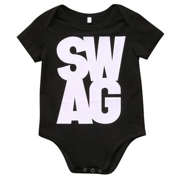 Summer Romper Newborn Kids Baby Boys Girls short sleeve SWAG Romper Jumpsuit Sunsuit Outfit Clothes