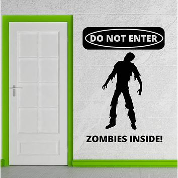 Vinyl Wall Decal Zombie Teen Room Horror Art Stickers Unique Gift (ig3943)