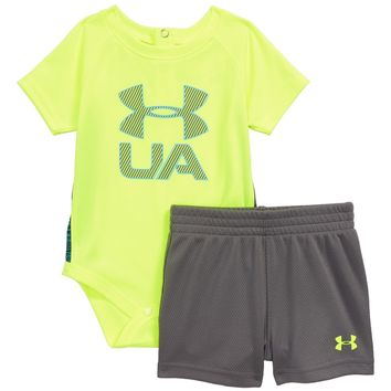 Under Armour Sportster Bodysuit & Shorts Set (Baby Boys) | Nordstrom