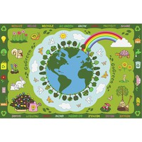Go Green Fun Kids Rug