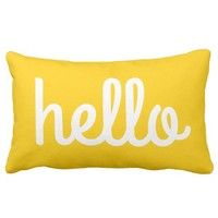 HELLO - Typography - Throw Pillow