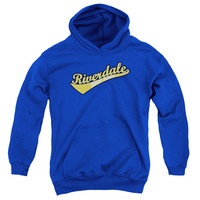 ARCHIE COMICS/RIVERDALE HIGH SCHOOL-YOUTH PULL-OVER HOODIE - ROYAL - MD