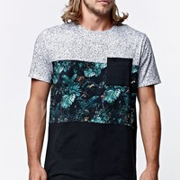 On The Byas - The Mountain Jungle Panel Crew T-Shirt - Mens Tee - Green