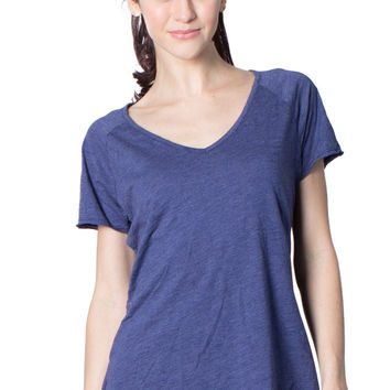 Women's Slub V-Neck Tee