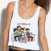 One Direction Vas Happenin Cropped Tank by StylesShop on Etsy