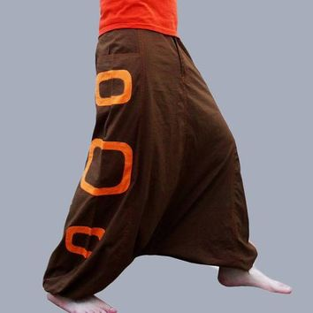 Harem Pants - Aladdin Trousers - Afghani Pants - Alibaba Pants - Rave - Psy - Men - Women - Cotton