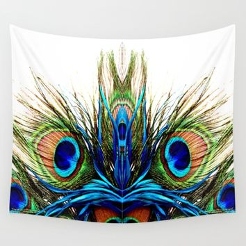 Metamorphosis Peacock Wall Tapestry by Azima
