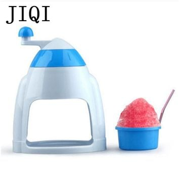 JIQI Household Manual Ice Crusher Shaver Hand Crank Mini Ice shaving Machine snow cone smasher grinder DIY ice cream Grinding