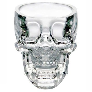 1pc Crystal Skull Head Shot Transparent Glass Cup Vodka Whiskey Gin Bar Home Party