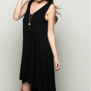 Black Sleeveless Tank Dress