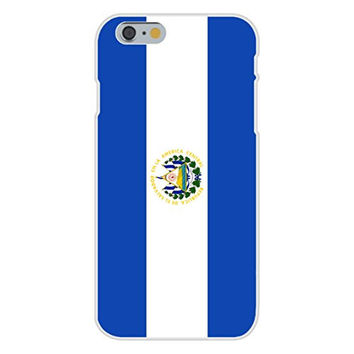 Apple iPhone 6 Custom Case White Plastic Snap On - El Salvador - World Country National Flags