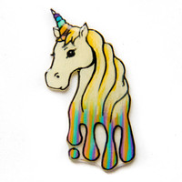 Rainbow Unicorn Hatpin