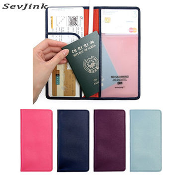 100% High Quality PU Leather Passport Cover Famous Brand Travel Accessories Korean Passport Holders women Passport Wallet