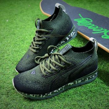 PUMA Jamming Cushion Forest Night Trainer Men Green Shoes - Sale