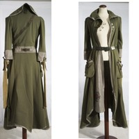 Khaki Green Tea Party - Coat and Dress all in one - Convertible shape and style - Urban Guerrilla Fashion - Haute Couture Wearable Art -