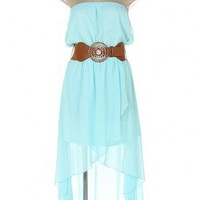 Mint To Be strapless Dress