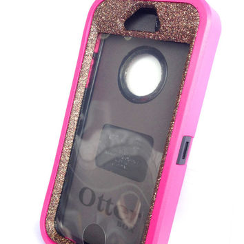 OtterBox Defender Series Case iPhone 5s Glitter Cute Sparkly Bling Defender Series Custom Case Peony Pink/ Tiger's eye