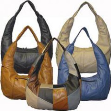 Mexican Genuine Leather Hobo Style Bag